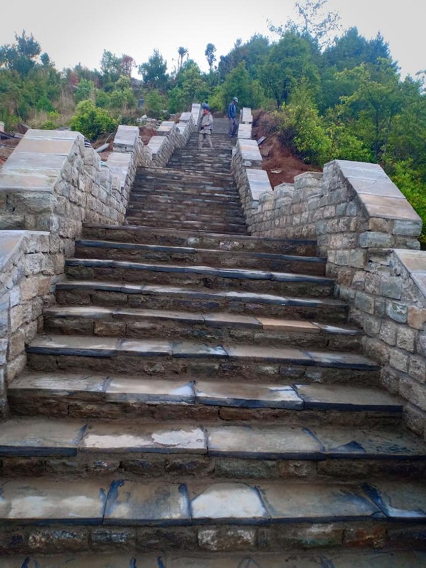 ग्रेटवालको झल्को दिने पदमार्ग पर्खाल नेपालमा बन्दै