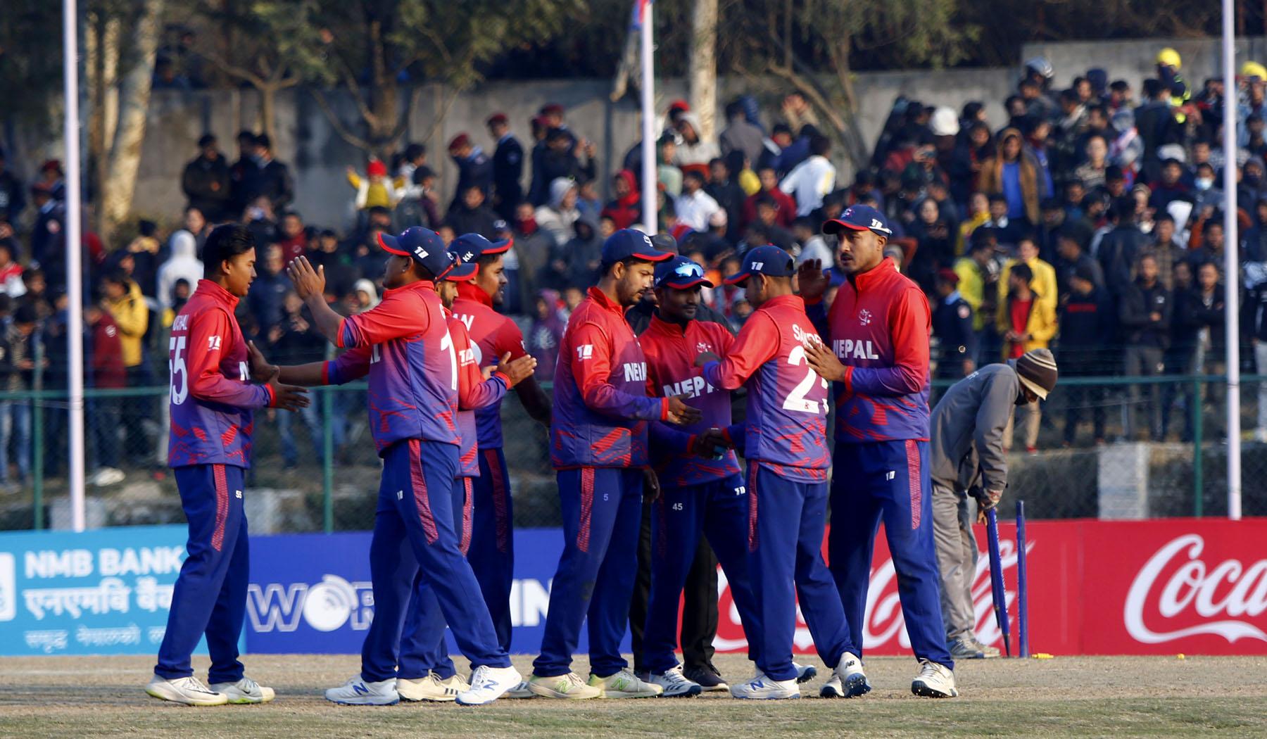नेपाल आईसीसीको टी-२० वरियताको यथावत स्थानमा