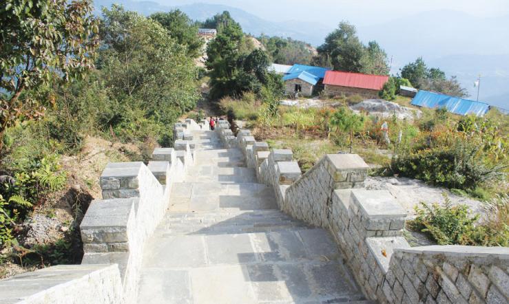 हेलम्बुको 'हिमालयन ग्रेट ट्रेल' निर्माण कार्य तिब्र, ११० मिटरको काम सकियो