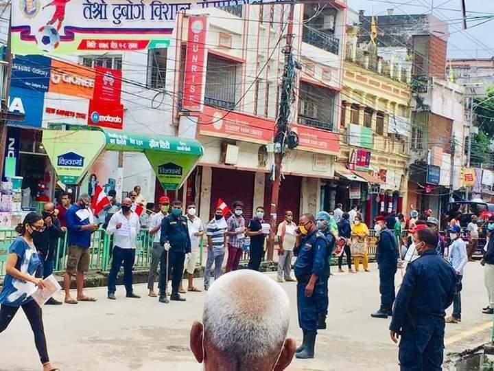 कर मिनाहाको माग गर्दै नेपाली कांग्रेसको बिरगंजमा बिरोध प्रदर्शन