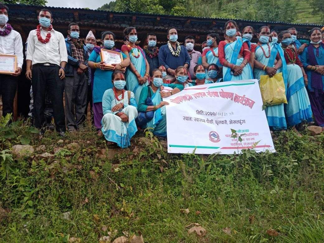 चम्पादेवीका महिला स्वयंसेवीकालाई प्रोत्साहन रकम वितरण