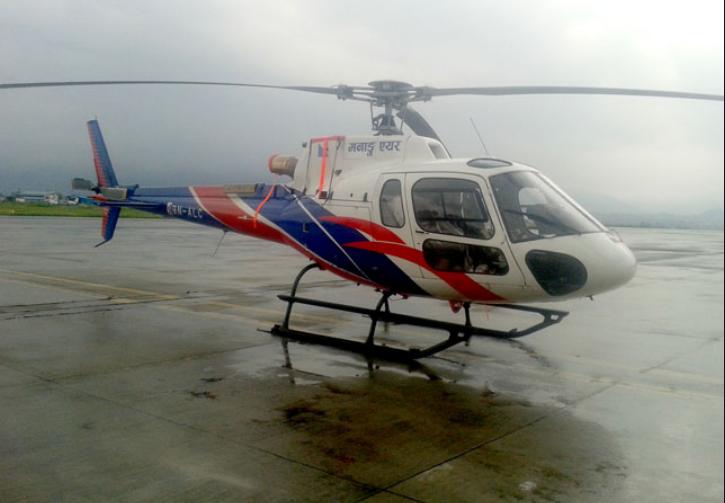 हेलम्बुमा हेलिकप्टरमार्फत सुत्केरीको उद्धार