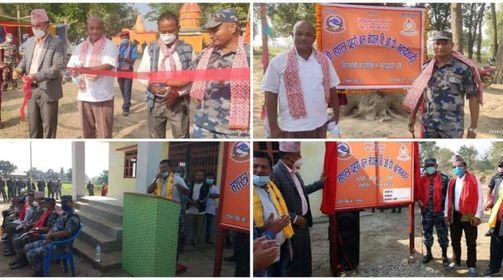 पर्साको ठोरी गाउँपालिका-३ ब्रम्हानगरमा सशस्त्र प्रहरीको बिओपी स्थापना