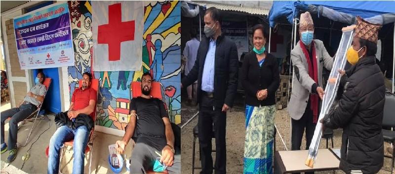 इन्द्रावती गाउँपालिकामा ६८ जनाले गरे रक्तदान