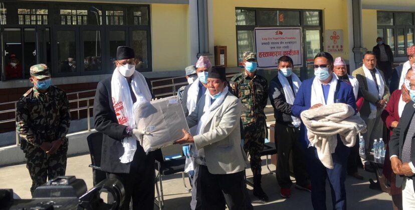 सिन्धुपाल्चोकका बाढीपहिरो पीडितहरुलाई चिन सरकारको सहयोग