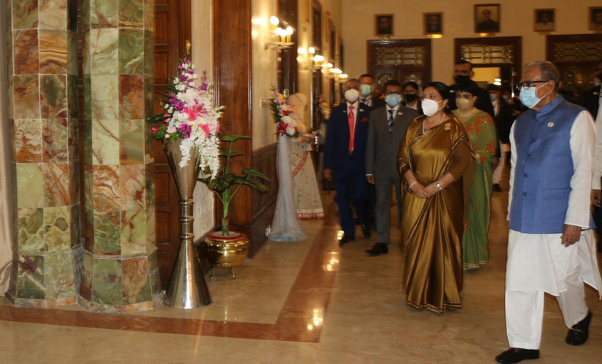 राष्ट्रपति भण्डारी र समकक्षी हमिदबीच भेटवार्ता