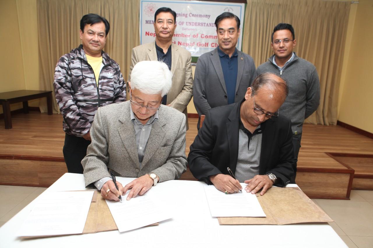 नेपाल चेम्बर र रोयल नेपाल गल्फ क्लबबीच सम्झौता