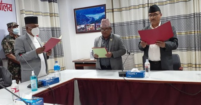 लुम्बिनीका मुख्यमन्त्री पोखरेलले नियुक्त गरे चार मन्त्री