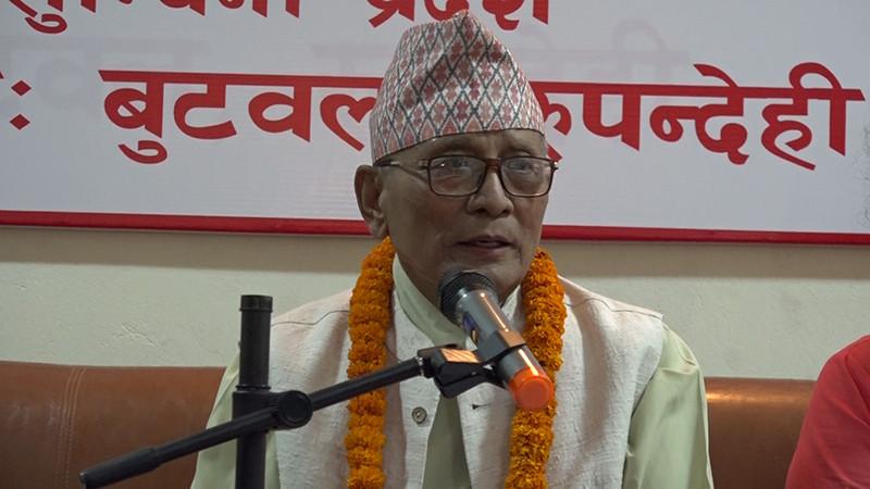 लुम्बिनी प्रदेश प्रमुखद्वारा मुख्यमन्त्रीमा दाबी गर्न दलहरुलाई २२ घण्टाको समयसिमा